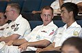 US Navy 060530-N-9851B-001 Republic of Singapore Navy Sailors and U.S Navy Sailors sit side by side in the Changi Navy Base auditorium.jpg