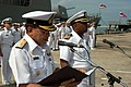 US Navy 060620-N-8573H-001 Commander Frigate Squadron Two Rear Adm. Surasak Roonreangron of the Royal Thai Navy speaks alongside Capt. Al Collins, commander of Destroyer Squadron One and the Cooperation Afloat Readiness and Tra.jpg
