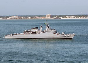 Brazilian frigate Constituição (F42) - Image: US Navy 090504 N 1644C 340 The Brazilian ship Constituicao (F42), along with ships from other countries participating in Exercise Unitas Gold, takes part in a parade of ships just off the coast of Jacksonville