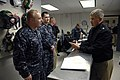 US Navy 100308-N-9818V-207 Master Chief Petty Officer of the Navy (MCPON) Rick West talks with Sailors at Tactical Electronic Warfare Squadron (VAQ) 132.jpg