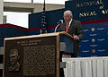 US Navy 100514-N-3852A-002 Former astronaut Neil Armstrong gives an acceptance speech after being inducted into the Naval Aviation Hall of Honor at the National Naval Aviation Museum in Pensacola, Fla.jpg