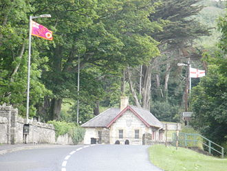 Ulster Volunteer Force - A UVF flag in Glenarm, County Antrim