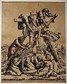 Ugo da carpi, deposizione dalla croce (da raffaello), xilografia a tre legni, 1500-30 ca.JPG