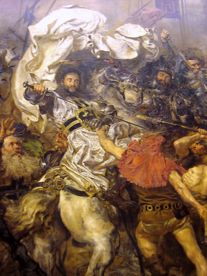 Ulrich von Jungingen - Death of Ulrich von Jungingen, detail of the painting by Jan Matejko, 1878