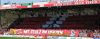 1. FC Union Berlin - Supporters choreography in 2010.