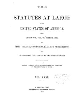 United States Statutes at Large Volume 31.djvu