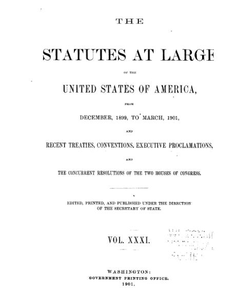 File:United States Statutes at Large Volume 31.djvu