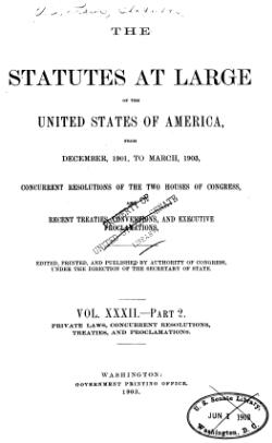 United States Statutes at Large Volume 32 Part 2.djvu