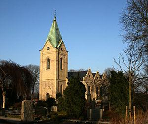 Uppåkra - Uppåkra church, built in the 1860s on the site of the mediaeval church.