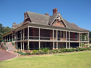 Peter Waite (philanthropist) - Urrbrae House, which was included in Peter Waite's bequest to the University of Adelaide. The house was his primary place of residence from 1891 when it was completed until his death in 1922.