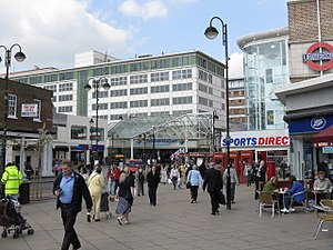 Uxbridge - Uxbridge High Street and The Mall Pavilions shopping centre