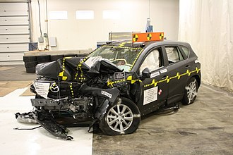 Mazda CX-5 - A 2014 Mazda CX-5 crash tested by National Highway Traffic Safety Administration