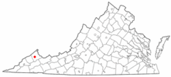 Location of Vansant, Virginia