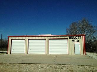 Belott, Texas - Belott firehouse