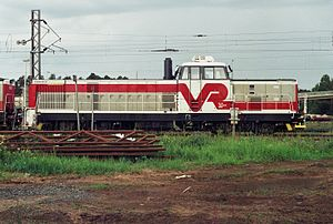 VR Class Dr16 - A Dr16 class locomotive at Oulu in 2009.