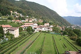 Vue du village de Vacallo