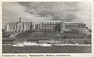 Federico Santa María Technical University - Main Campus in Valparaíso, 1949
