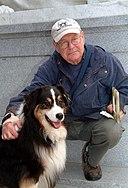 Van A. Harvey and a dog.jpg