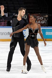 Vanessa James and Morgan Ciprès at 2016 Trophée de France.jpg