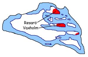 Vaxholm Municipality - Municipal detail map