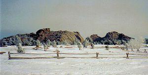 Vedauwoo - Vedauwoo Rocks in winter