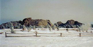 Sherman Granite bei Vedauwoo im Winter