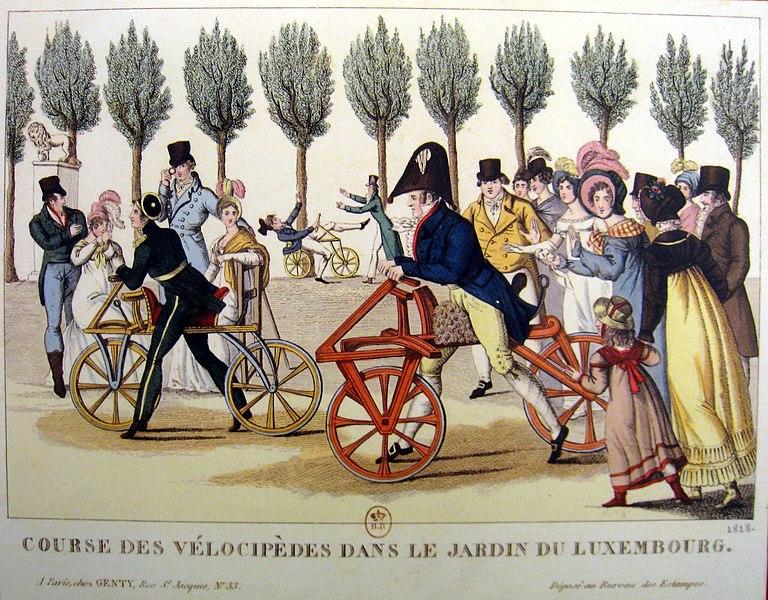 Fichier:Velocipedes, Jardin de Luxembourg, 1818.JPG