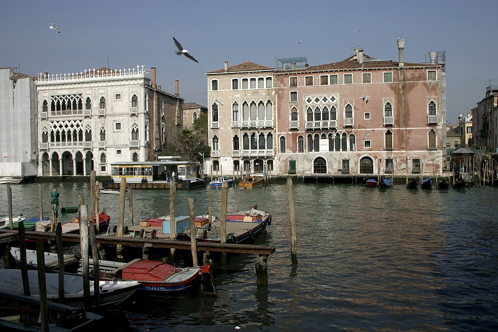 Venice - Grand Canal with Ca' D'Oro and Sagredo's Palace