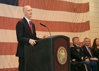 Rick Scott - Scott speaking at Veterans Award Ceremony