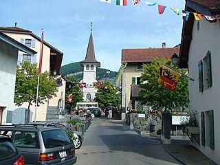 Veyrier Place in Geneva, Switzerland