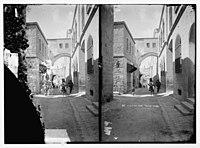 Via Dolorosa, beginning at St. Stephen's Gate. Ecce Homo Arch. LOC matpc.06472.jpg