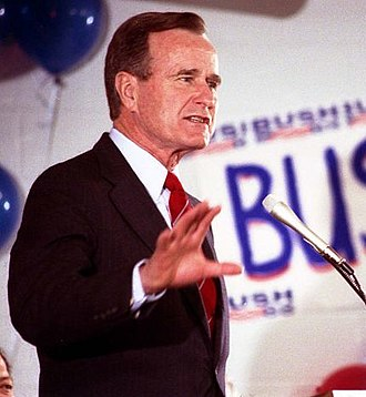 1988 United States presidential election in South Carolina - George H. W. Bush campaigning in North Augusta