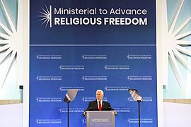 Vice President Pence Speaks at the Ministerial to Advance Religious Freedom (48316281836).jpg