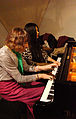Vienna 2013-11-21 Porgy+Bess - RAU sound recording 041 Inge Pechoc (foreground), Yedda Chunyu Lin.jpg