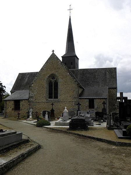 Église Notre-Dame-de-la-Visitation de Vieuvy (53). Chevet.