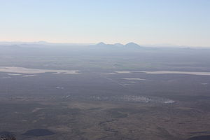 Guadalupe Peak - Image: View West From Guadalupe Peak 13October 2012