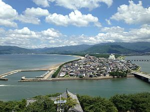 View from Tenshu of Karatsu Castle (Nijino Matsubara and Mount Kagamiyama).JPG