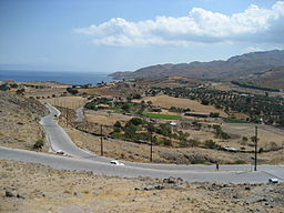 View from hill in Mithymna, Lesbos Island