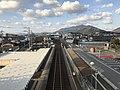 View from overpass of Kajikuri-Godaichi Station (north).jpg