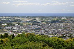 Panorama view of around Tahara, from Mount Zao Park