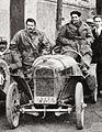 Violette Gouraud-Morris sur voiturette Benjamin, au Circuit des Routes Pavées en 1923.jpg