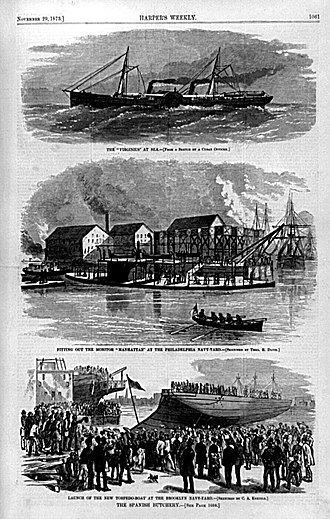 George M. Robeson - The Spanish Butchery: illustrations of the U.S. naval response over the Virginius incident (Harper's Weekly, 1873)