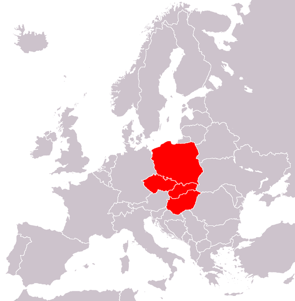 Dosya:Visegrad group countries.png