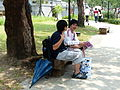 Visitors Reading Comics under the Tree 20140705.jpg