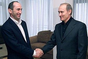 Robert Kocharyan - President Vladimir Putin with Armenian President Robert Kocharyan