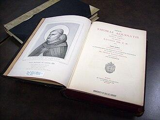 Aeterni Patris - Volume 1 of the Leonine edition of the works of St. Thomas Aquinas (1882)