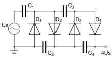 Kaskadi  elektroniikka additionally Capacitance Multiplier With Mosfet likewise Ac Circuits Made Simple together with Voltage Follower 741 Circuit besides P1 e. on voltage multiplier diagram
