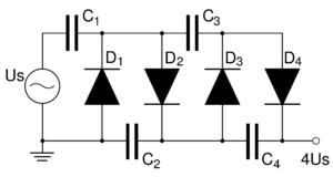 Voltage multiplier - Villard cascade voltage multiplier.