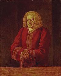 Ο Βολταίρος σε γεροντική ηλικία (Πορτραίτο ανωνύμου Τελευταίο τέταρτο του 18ου αιώνα Musée du Château Βερσαλλίες)