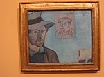 WLANL - Minke Wagenaar - Emile Bernard 1888 Self-portrait with portrait of Gauguin.jpg